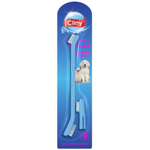 Cliny, Зубная щетка + массажер для десен, для кошек и собак