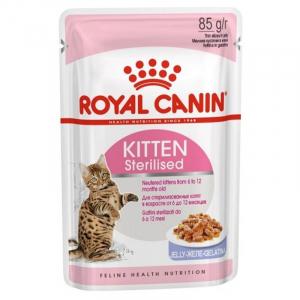 Пауч для котят, Royal Canin Kitten Sterilised, для стерилизованных котят с момента операции до 12 месяцев (в желе)