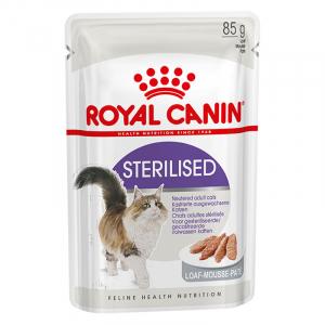 Пауч для стерилизованных кошек, Royal Canin Sterilised, старше 1 года (паштет)