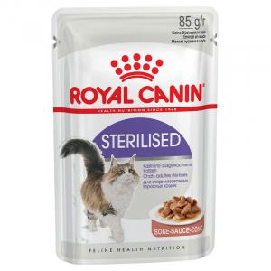 Пауч для стерилизованных кошек, Royal Canin Sterilised, старше 1 года, (в соусе)