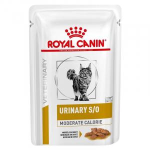 Пауч для кошек, Royal Canin Urinary S/O Moderate Calorie, при предрасположенности к избыточному весу, при лечении мочекаменной болезни, после кастрации