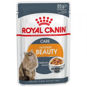 Пауч для кошек, Royal Canin Intense Beauty, с чувствительной кожей или проблемной шерстью, в возрасте от 1 года до 7 лет, в желе