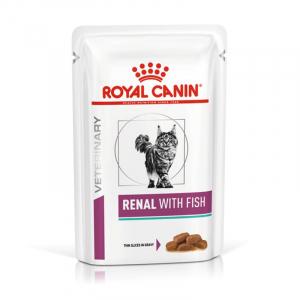 Пауч для кошек, Royal Canin Renal Feline With Fish, при хронической почечной недостаточности, c тунцом