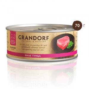 Консервы для кошек, Grandorf, с филе тунца