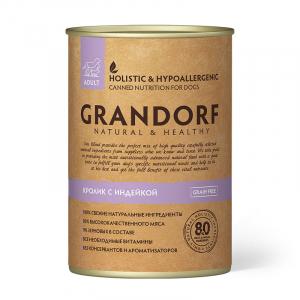 Влажный корм для взрослых собак, Grandorf Rabbit & Turkey, с кроликом и индейкой
