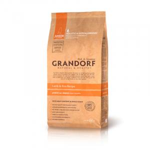 Корм для собак Grandorf ягненок с рисом, для юниоров