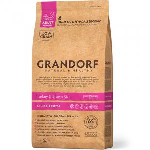 GRANDORF Turkey & Rice Adult All Breeds, Сухой корм для взрослых собак всех пород Индейка с рисом