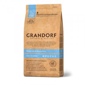 Корм для собак всех пород, Grandorf, с белой рыбой с рисом