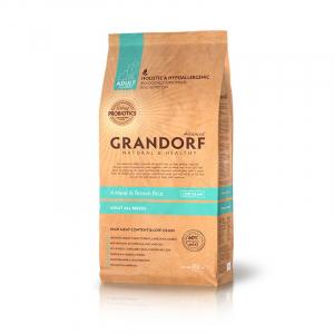 Корм для собак, Grandorf, 4 вида мяса с бурым рисом, с пробиотиками