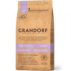 GRANDORF Turkey & Rice Adult Mini, Сухой корм для взрослых собак мелких пород Индейка с рисом