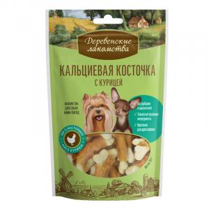 Деревенские лакомства для собак мини-пород Кальциевая косточка с курицей