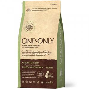 ONE&ONLY Turkey & Rice Adult STERILISED, с индейкой и рисом для стерилизованных кошек