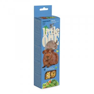 Палочки Little One для морских свинок, кроликов, шиншилл с овощами (2х55 гр)
