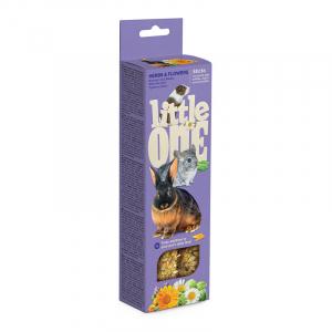 Палочки Little One для морских свинок, кроликов, шиншилл с травами и цветами (2х55 гр)
