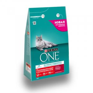 Purina ONE для стерилизованных кошек и котов, с говядиной и пшеницей