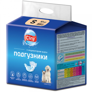 Cliny, Подгузники для Собак и Кошек, 3-6кг, Размер: S