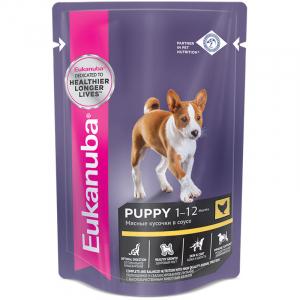 Eukanuba, для щеков и беременных или кормящих собак всех пород с курицей