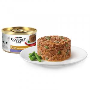 Gourmet нежные биточки с ягненком и зеленой фасолью