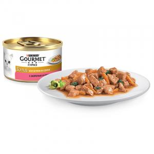Gourmet кусочки в соусе с форелью и овощами