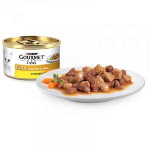 Gourmet кусочки в соусе с курицей и печенью