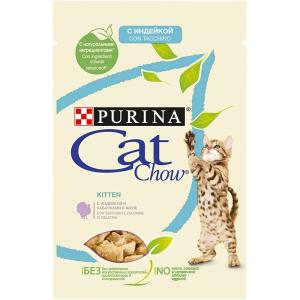 Cat Chow Kitten: Кусочки в соусе индейка с кабачками в желе