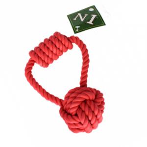N1 Грейфер петля с ручкой и узлом, красный, 15 см
